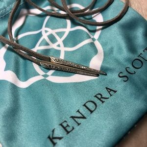 Kendra Scott Jewelry - NWOT Kendra Scott Pierce Gry Suede Lariat Necklace